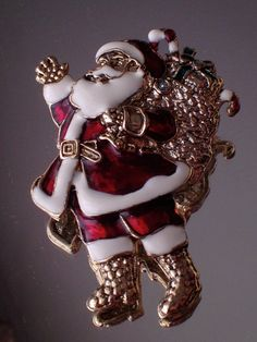 Vintage 1928 Jewelry Co Santa Christmas by RareBeautyCollector