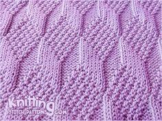 Reversible Knitting * - Moss Diamond and Lozenge stich. Knitting pattern the same on both sides