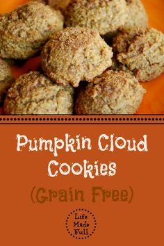 #GlutenFREE - Pumpkin Cloud Cookies