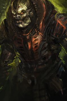 General Raam, Gears of War series artwork by Td. Spiral