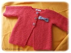 Knittin' For Britain: Free Pattern Phursday - Twelve Knitting For Kids, Baby Knitting Patterns, Baby Patterns, Tricot Baby, Coin Couture, Point Mousse, Baby Coat, Baby Cardigan, Baby Sweaters