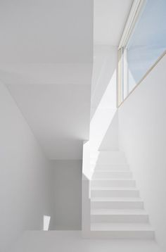 minimalism and clean lines all whtie construction