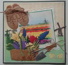 Tineke's kaartenhoekje Dutch Tulip, Wind Of Change, Marianne Design, Garden Theme, Windmill, Holland, Tags, Frame, Flowers