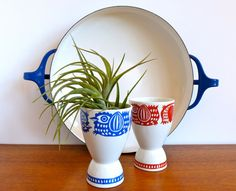 Vintage Mid Century Modern Arabia of Finland Egg by HotCoolVintage, $44.95