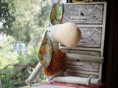 Handmade eco linen Donkey with antiallergic by SeedsOfLoveHandmade