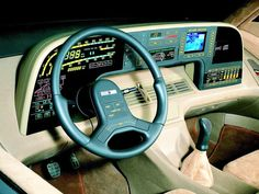 1986 Volkswagen Orbit concept - this is the best dash ever