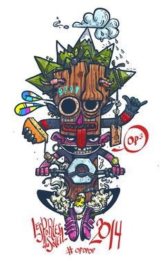 Print for t-shirt PDS 2014 by Konstantin Anufriev, via Behance