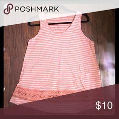 Peach loft sleeveless cotton shirt Sleeveless cotton top LOFT Tops Tank Tops