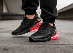 Nike Air Max 270 Black & Hot Punch | AH8050 010 Shoe Engine