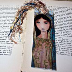 Virgen de Guadalupe   Laminated Bookmark  Handmade  by FlorLarios