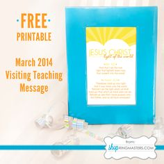 FREE Visiting Teaching Message Printable from ShopRingmasters.com