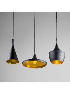 Hanglamp Depeche 3 zwart met goud