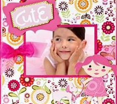 This bright, girly layout would make a great addition to your little girls memory album!