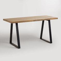 Natural Wood and Blackened Metal Colton Mix & Match Desk | World Market