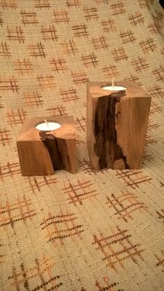 Rustic Wooden Tea Light Holders by MeadhillRustic on Etsy