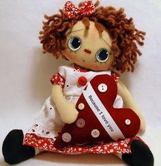 Handmade Teddy Bears and Raggedies: Handmade Irresistible Raggedy Ann Doll for Sale