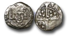 Edward IV (1461-1483), Penny, 0.42g., Heavy Cross and Pellets Coinage (1465), Trim mint, crowned facing bust of Edward, rev.,  long cross with quatrefoil at the centre, (S.-; JBurns T-2H (type 2) plate coin),  almost very fine.