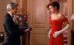 Julia Roberts como Vivian con uno de los vestidos más recordados del cine
