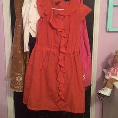 Dress Burnt orange dress Dresses Midi