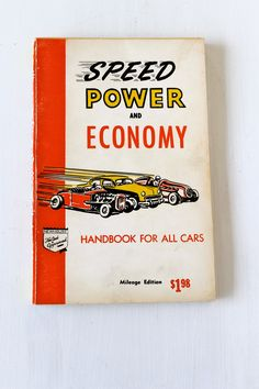 For fans of vintage hot rods and customs is this 1954 edition of the Speed Power and Economy Handbook. $6.00, via Etsy.