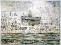 ANSELM KIEFER Merkaba, 2002 Oil, emulsion, acrylic and lead objects on canvas 110 x inches x 380 cm) Photo: Tom Powel Anselm Kiefer, Statues, Gagosian Gallery, Equine Art, Wassily Kandinsky, Pencil Portrait, Abstract Landscape, Abstract Art, Vincent Van Gogh