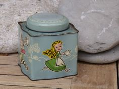 Rare - Alice In Wonderland,s Mad Haters Tea Party Tea Caddy Tin.