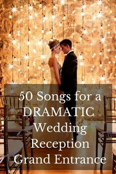 Make your wedding entrance more fun! Here's a list of unexpected entrance songs to excite your guests with.