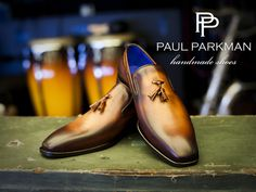 PAUL PARKMAN ® Brown & Tobacco Hand-Burnished Calfskin Tassel Loafer for Men