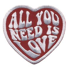 All You Need is Love Heart Punk Rockabilly Tattoo Bag Jeans Jacket Patch By Titan One at Products Lists of Tools and Hardware - brand new iron on sew on patch Cute Patches, Pin And Patches, Iron On Patches, Jacket Patches, Sew On Patches, Overlays, All The Bright Places, Aesthetic Stickers, Embroidery Patches