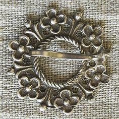 Flower Motif Brooch 18-19th Century #Jewellery  A popular adornment among the Estonian peasantry in the 18th-19th century