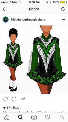 Gorgeous green Irish dance dress Irish Step Dancing, Irish Dance, Irish Costumes, Dance Costumes, Just Dance, Dance Moms, Dancing Sketch, Dress Sketches, Dance Dresses