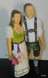 Brautpaar aus Holz