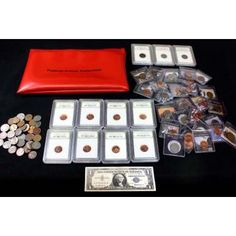 Federal Prison Bag Filled with Coins, Collectibles & Paper Money