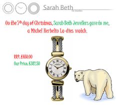 It's the 7th Day of Christmas! Today's gift of the day is one of the lovely Michel Herbelin watches! And at a great price too!  Remember; last order dates for delivery before xmas is the 18th for Standard Delivery (Free for any product below £75) and the 21st for Express Delivery (Free for any product over £75, or below an £75 with a postage charge)