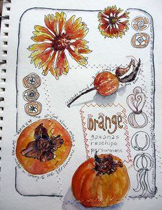 Jane LaFazio My sketchbook ~ orange | Flickr - Photo Sharing!