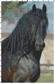 Cross Stitch Pattern Black Stallion by theelegantstitchery on Etsy, $10.00