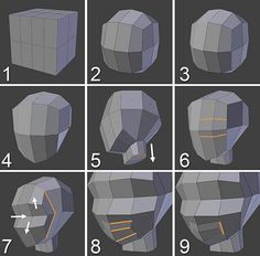 Tutorials Images for Characters Modeling Blender 3d, Blender Models, Character Design Tutorial, Game Character Design, Game Design, Logo Design, 3d Model Character, Character Modeling, Animation Reference