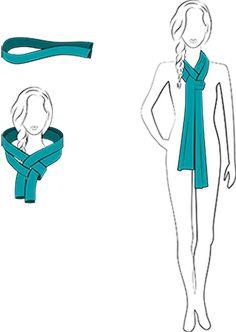 t cher raffiniert tragen der magischetrick schal krawatte binden pinterest t cher binden. Black Bedroom Furniture Sets. Home Design Ideas