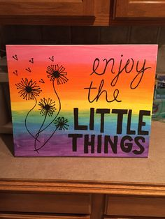 Canvas Painting Quotes, Flower Painting Canvas, Simple Canvas Paintings, Cute Paintings, Flower Canvas, Fabric Painting, Diy Painting, Watercolor Paintings, Disney Canvas Art