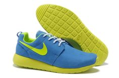 online retailer 9cf8f b8cb9 2014 New For Sale Nike Roshe Mens Running Shoes Wool Skin Online Blue  Yellow Nike Shoes