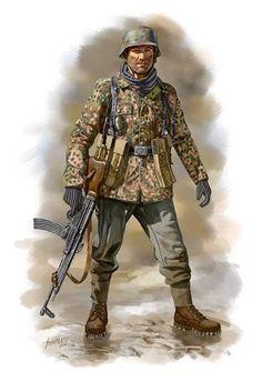 Waffen SS Panzergrenadieren - Ardenne, 1944