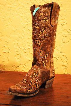 Rivertrail Mercantile - Lane Boots Damask Leopard, $430.00 (http://www.rivertrailmercantile.com/lane-boots-damask-leopard/)