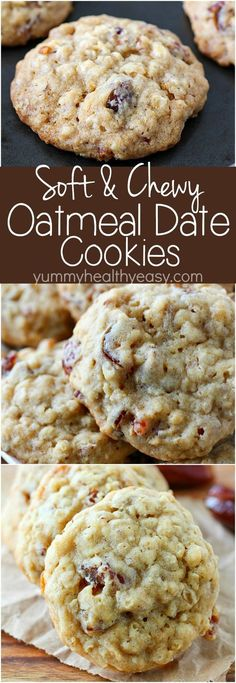 Oatmeal Date Cookies ~ chewy and soft in the center but crispy on the edges...the perfect oatmeal cookie filled with chewy dates and crunchy pecans!