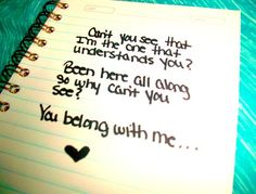 You belong with me.... This song brings back memories.
