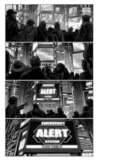 "Storyboards Chris Weston drew for Albert Hughes' live-action adaptation of Katsuhiro Otomo's classic graphic novel,""Akira"". Creative Illustration, Graphic Illustration, Akira Live Action, Color Script, Pulp Fiction Art, Storyboard Artist, Comic Styles, Comic Page, Comic Book Artists"