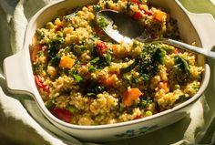 Bunte Gemüse-Hirse-Pfanne - Gemüse der Saison, Hirse, Gewürze & Kräuter, etwas Öl und eine Handvoll Nüsse/Kerne #simpel