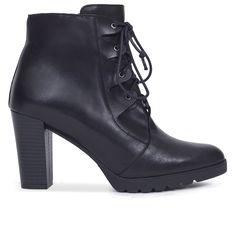 d5eee5911 Botin mujer NEGRO con cordones – Zapatos miMaO Online – miMaO ShopOnline  Tacones Azules