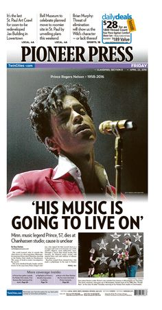 All over the world, Prince's passing made the headlines. He could not possibly have known how deeply he touched us.