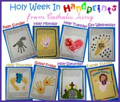 I made a printable book that tells the story of Holy Week for children. The story is adapted from the book of Matthew, and the story is illustrated by your child and his or her handprints. :-) Each...