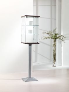 Fusion 4PF Jewelry Showcase. Includes lockable swing doors with two adjustable shelves.